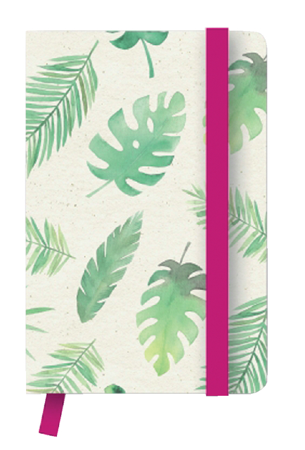 notitieboek teneues green floral 10x15 176blz