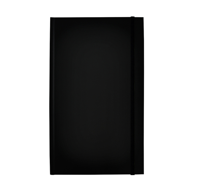 notitieboek rockbook 130x210mm lijn hardcover black