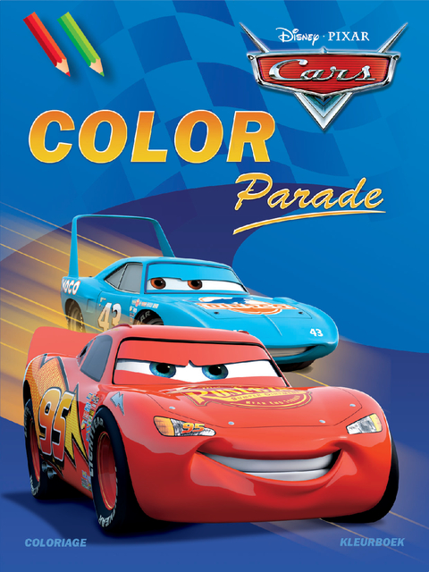 kleurboek deltas disney color parade cars