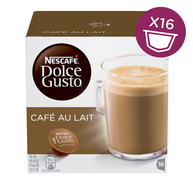Dolce Gusto Cafe au Lait 16 cups
