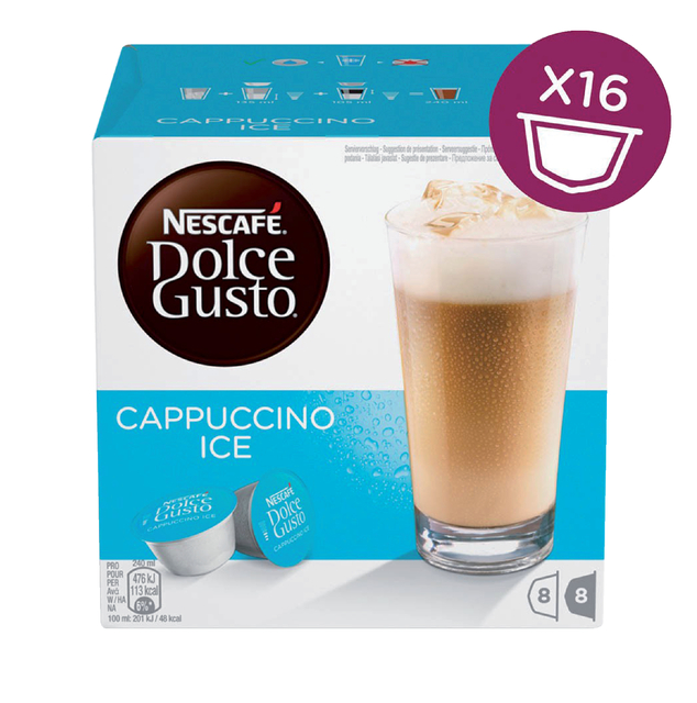Dolce Gusto Cappuccino Ice 16 cups voor 8 kopjes