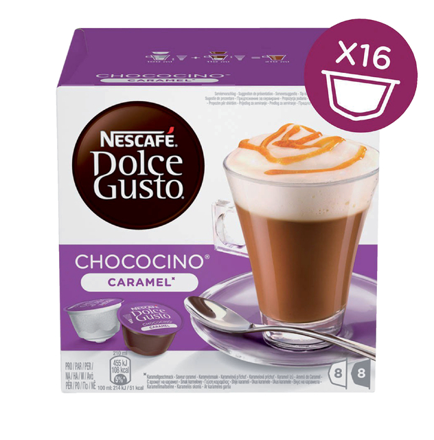 Dolce Gusto Choco Caramel 16 cups voor 8 kopjes