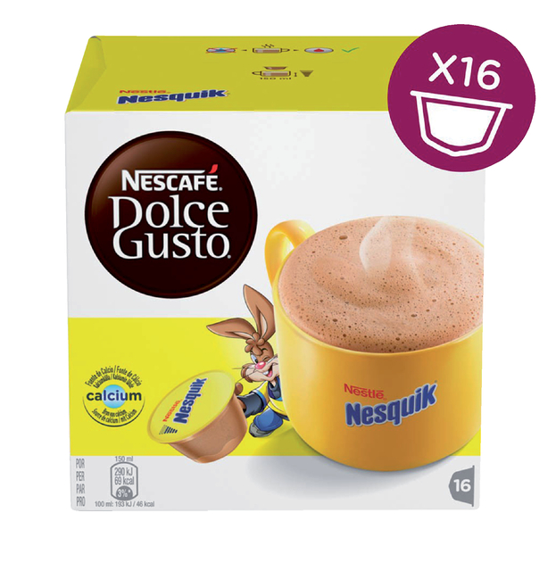 dolce gusto chocolade nesquick 16 cups