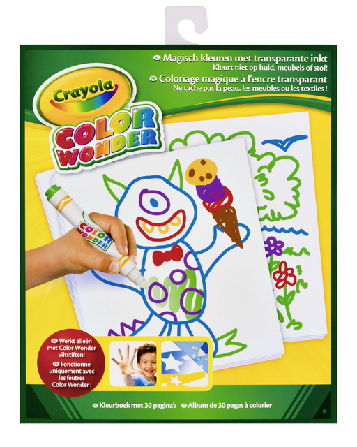 tekenblok crayola color wonder neutraal