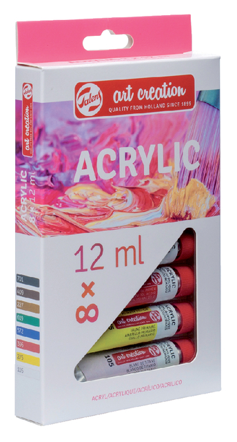 ,Acrylverf Talens Art Creation assorti blister à 8stuks