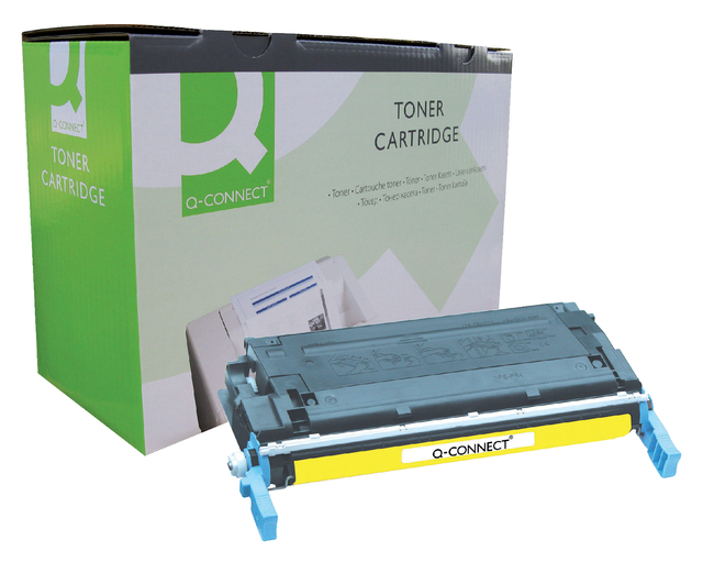 q-connect tonercartridges voor hp printers 600 serie 641a c9722a geel