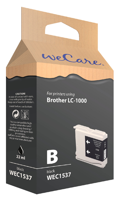 inkcartridge wecare brother lc-1000 zwart