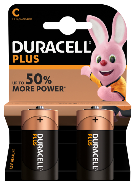 Batterij Duracell Plus Power 2xC MN1400