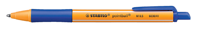 Balpen Stabilo Pointball blauw 0,5mm