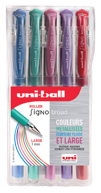 gelpen Uni-Ball Signo Broad metallic ass 1,0mm à 5st