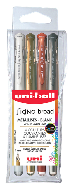 gelpen Uni-Ball Signo Broad metallic ass 1,0mm à 4st