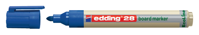 viltstift edding 28 whiteboard eco rond blauw 15-3mm