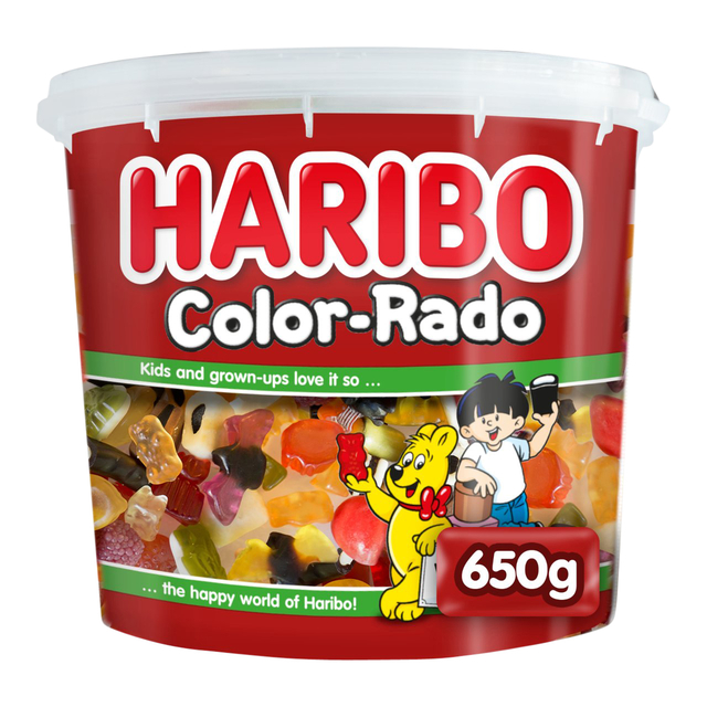 haribo color-rado wine gum + engelse drop 650gram