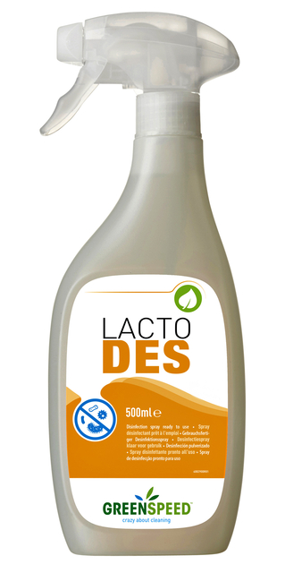 Desinfecterende spray Greenspeed Lacto Des 500ml