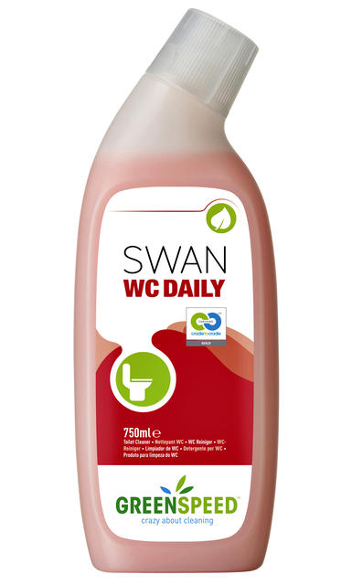 sanitairreiniger greenspeed swan wc daily 750ml