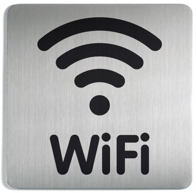Afbeelding van Infobord pictogram durable 4786 vierkant wifi 150mm