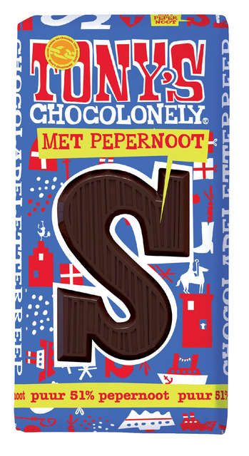 ,Tony`s chocolonely puur pepernoot s 180gr