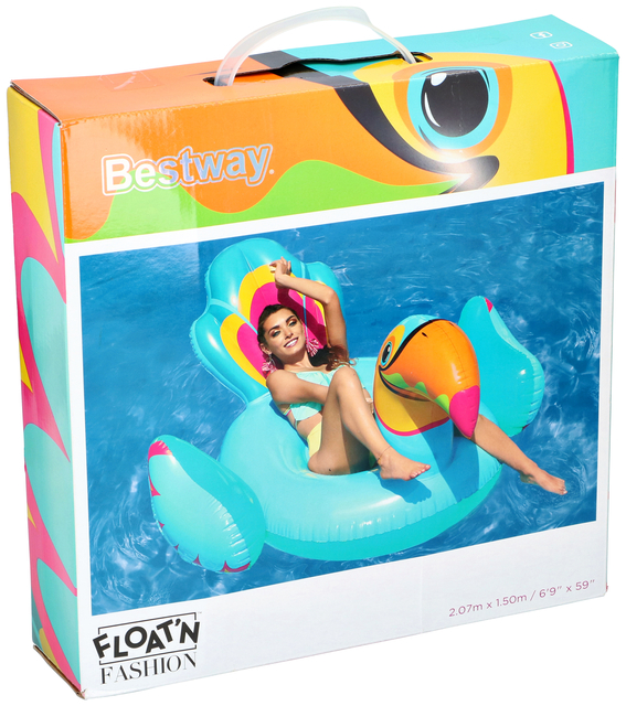 luchtbed bestway toucan 207x150cm ride on pvc