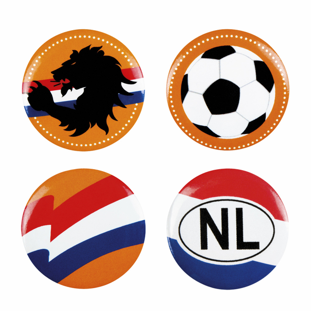 buttons nederland assorti set 4 stuks